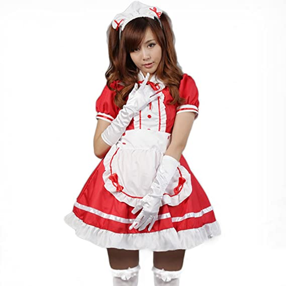 71164c0f243 Zehui Cute Maid Clothes Fancy Cosplay Role Play Uniforms Anime Costume  Women Sexy Lingerie Dress Red Sc 1 St Amazon.ca
