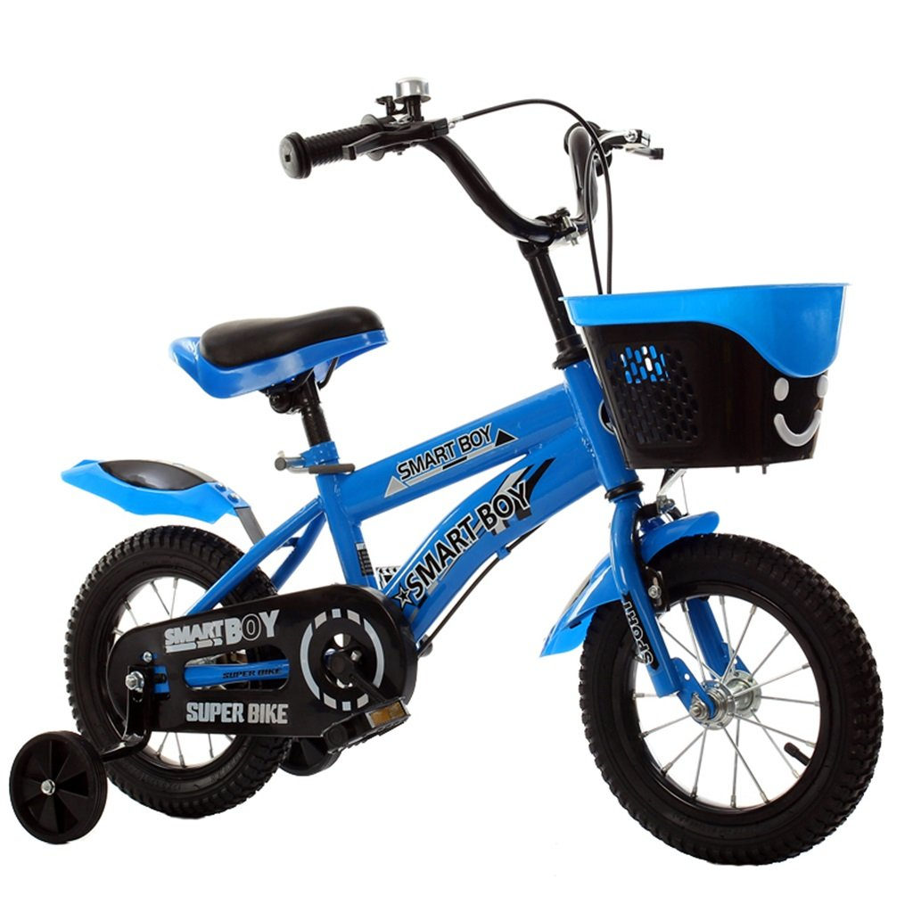 KANGR-子ども用自転車 子供の自転車アウトドアマウンテンバイク2-3-6-8ボーイズとガールズ子供用玩具調節可能ハンドルバー/トレーニングホイール付きサドル-12 / 14/16/18インチ ( 色 : 青 , サイズ さいず : 18 inch ) B07BTY72DQ 18 inch|青 青 18 inch