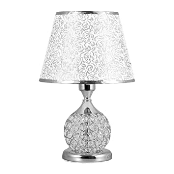 HhGold Lámpara de Mesa Minimalista de Cristal Estilo mesilla ...