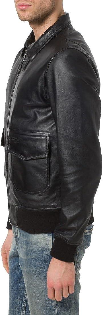 Kingdom Leather Mens Genuine Cow Leather Jacket Slim Fit Motorcycle Jacket XC161
