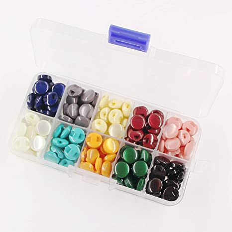 Buttons Clear Plastic Kids Half candy colors Sewing Craft inch Ball NEW Durable