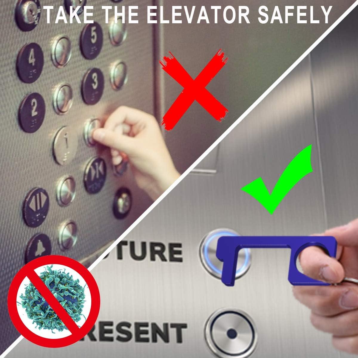 Cobra multicolor para abrir puertas antibacteriano Abridor de puerta multifunci/ón sin contacto empujar botones y tel/éfono m/óvil