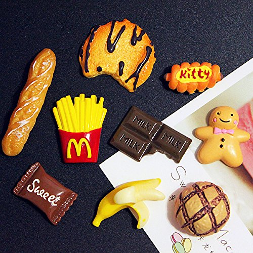 French Bread Banana (Jaese soft sister personalized food goods banana bread french fries chocolate biscuits resin brooch pin badge)