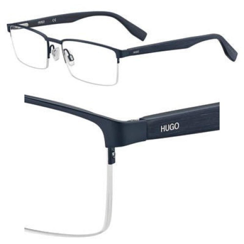 Hg 324 02WF Matte Bluwood Eyeglasses Hugo hug
