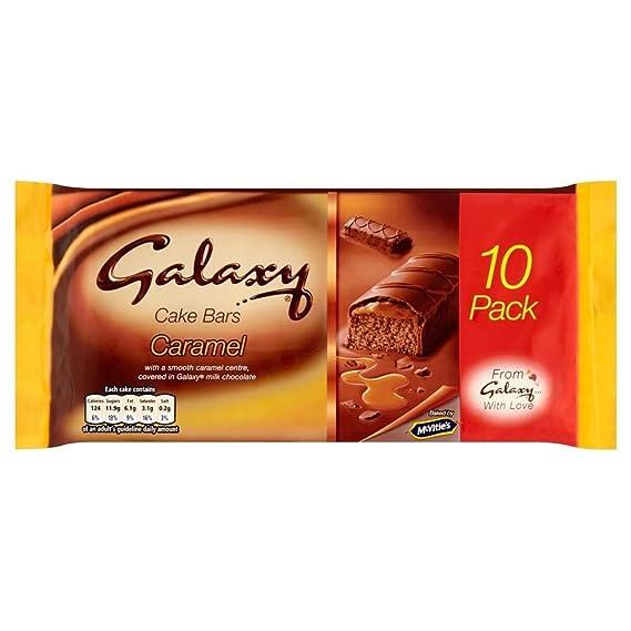 McVities Barras De La Torta Del Caramelo De Galaxias (10) (Paquete de 2