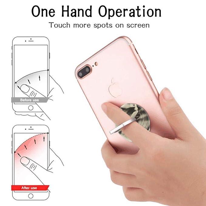 Soporte de anillo para teléfono móvil, soporte de agarre de dedo ...