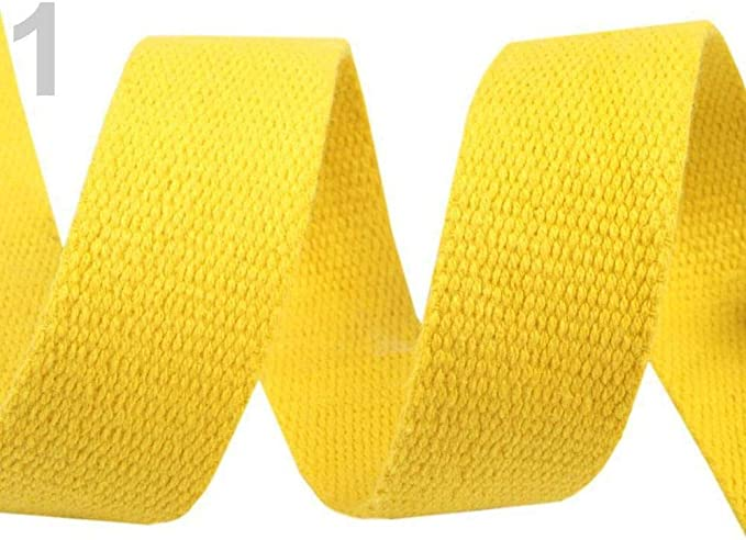 5m Amarillo cinta de Algodón Ancho 30mm, Correas, artículos de Mercería: Amazon.es: Hogar