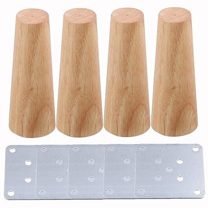 Bqlzr Ersatz Möbelbeine Holzfarben Für Stühle Sofa 15 X 58 X 3