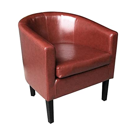Superb Paldin Leather Tub Chair Faux Leather Armchair Club Chair Bucket Chair For Dining Living Room Office Reception Wine Red Pdpeps Interior Chair Design Pdpepsorg