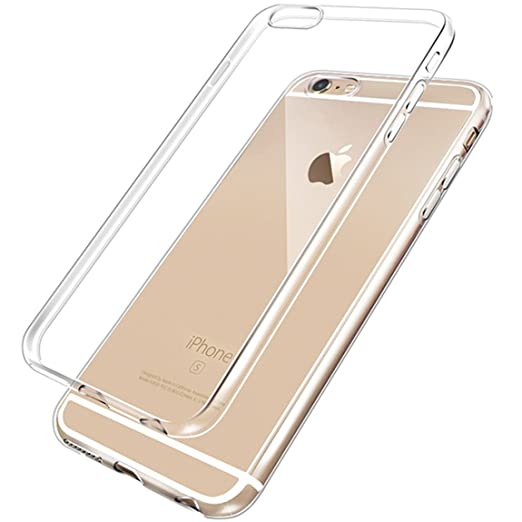 127 opinioni per Cover iPhone 6, 6S, NEWC® Custodia Cover Case Caso Trasparente Crystal Clear