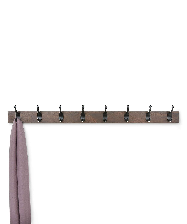 8 ganci moderni Basics Appendiabiti da parete Noce