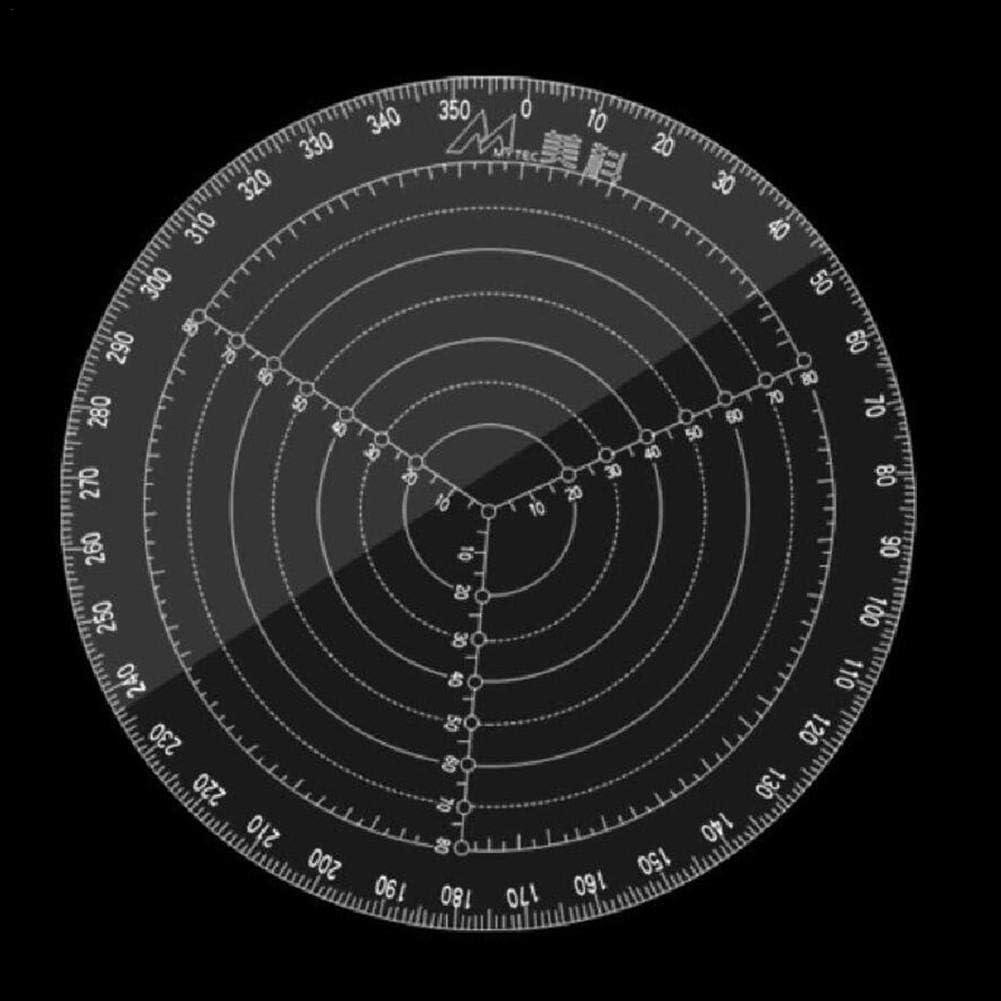 per Herramientas de Dibujar C/írculos Reglas de Medici/ón Localizador de Centro de C/írculos Plantillas Tranparentes Multifuncionales Di/ámetro de 20//30cm