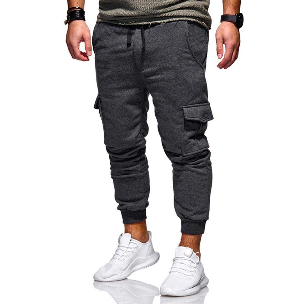 Amazon.com: NEARTIME Mens Pants, Fashion Men Solid Color Sweatpants Sport Fitness Jogging Trousers Casual Loose Drawstring Pants: Arts, Crafts & Sewing