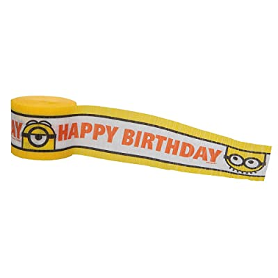 30ft Crepe Paper Despicable Me Minions Party Streamers: Toys & Games