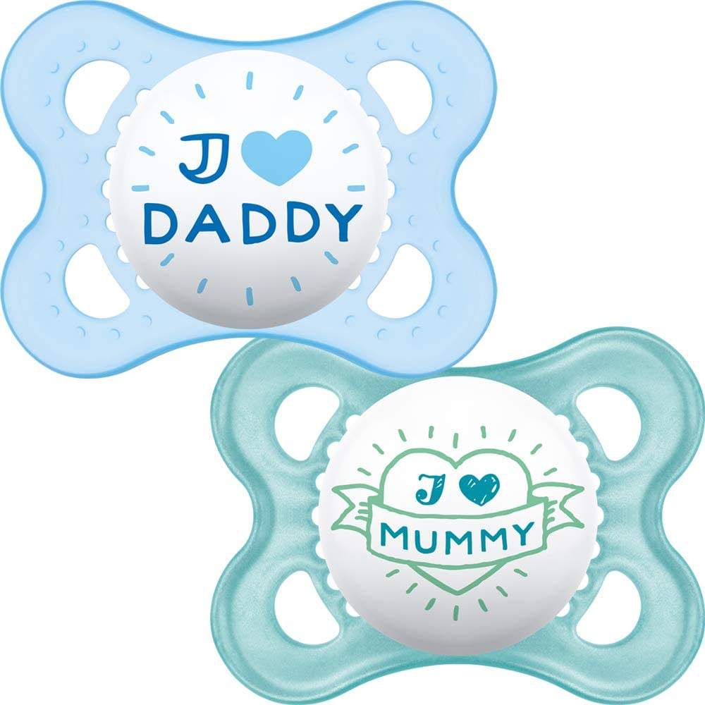 MAM - Chupete con estuche de viaje esterilizable azul Talla:1: Mam UK: Amazon.es: Bebé