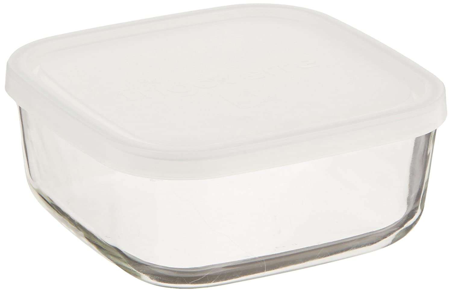 Bormioli Rocco Frigoverre Square Food Container with Frosted Lid, 25-1/2-Ounce