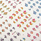 CynKen 3D Flower Cartoon Pattern Nail Toes Sticker Nail Art Decoration