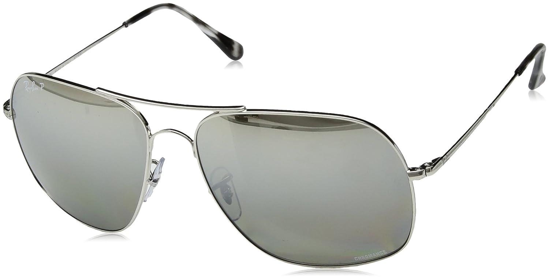 822d2e92c5c76 Óculos de Sol Ray Ban Chromance Rb3587ch 003-5j 61 Prata - Cinza Espelhado  Polarizado  Amazon.com.br  Amazon Moda
