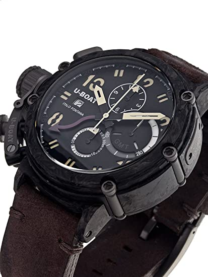 Amazon.com: U-Boat Chimera Carbon 7177 48 mm Limited X / 199 Autom. Chrono: Watches