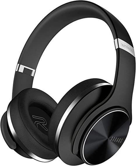 DOQAUS Bluetooth Headphones Over Ear, [52 Hrs Playtime] Wireless Headphones, 3 EQ Modes, Foldable Hi Fi Stereo Bass Headphones, Soft Memory Protein