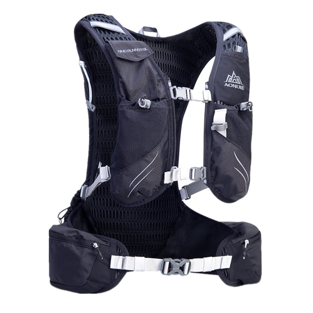 Amazon.com: AONIJIE 15L Hydration Backpack Vest Pack Daypack 3L Hydration Bladder (Black): Sports & Outdoors