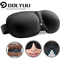 Schlafmaske, absolute Dunkelheit Schlafbrille,3D PLUS große Augenmaske, Augenabdeckung Augenbinde, mehr Platz für die Augen, festere Passform auf Ihrer Nase - für Damen & Herren