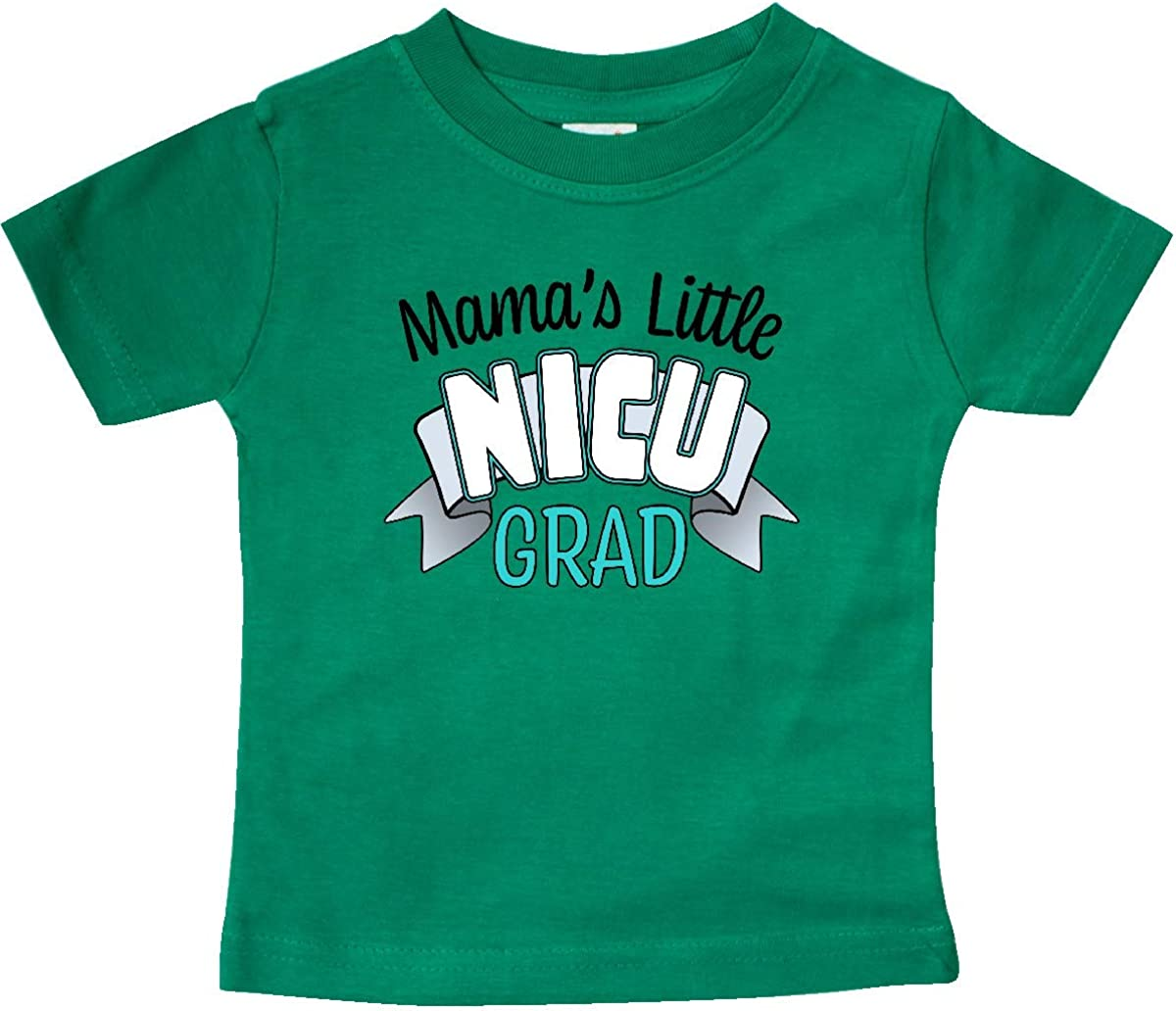 inktastic Mamas Little Nicu Grad in Blue with Banner Baby T-Shirt