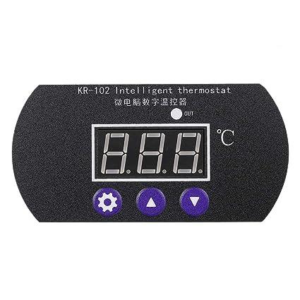 KKmoon KR-102 DC 12V 10A Micro Panel de Control Termostato Digital Ajustable para Incubadora