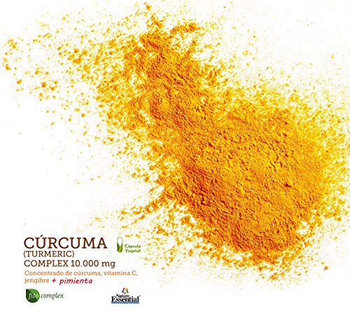 Curcuma (Turmeric) Complex 10.000 mg – Con cúrcuma, vitamina C, jengibre y pimienta negra – 60 Capsulas vegetales. (3 Unidades)