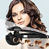 Hair Curler,Upgraded Professional curling wands,Curl Secret Hair Styler |Curling Iron Wand Best Steam Curling Iron|Auto Rotating Electric Hair Curler with Dual Voltage Auto Shut Off