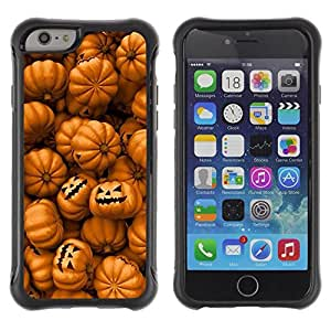 Suave TPU GEL Carcasa Funda Silicona Blando Estuche Caso de protección (para) Apple Iphone 6 / CECELL Phone case / / Orange Pumpkin Evil Holiday /