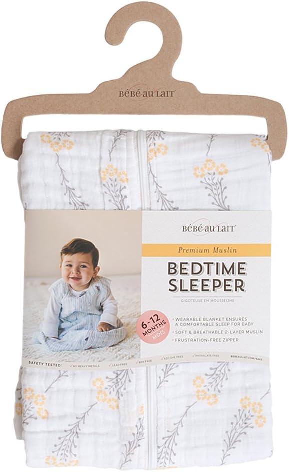 Bowler 6-12 Months Bebe au Lait Premium Muslin Bedtime Sleeper