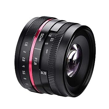 Lente de la cámara 50 mm F1.8 Accesorio de Lente de Enfoque de ...