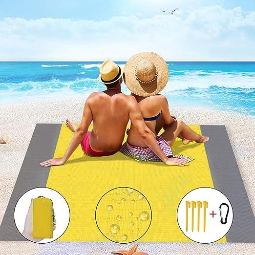 Alfombra Impermeable Anti Arena Ideal para Playa Goosun Alfombra de Playa Manta de Picnic Camping Eventos al Aire Libre Picnic