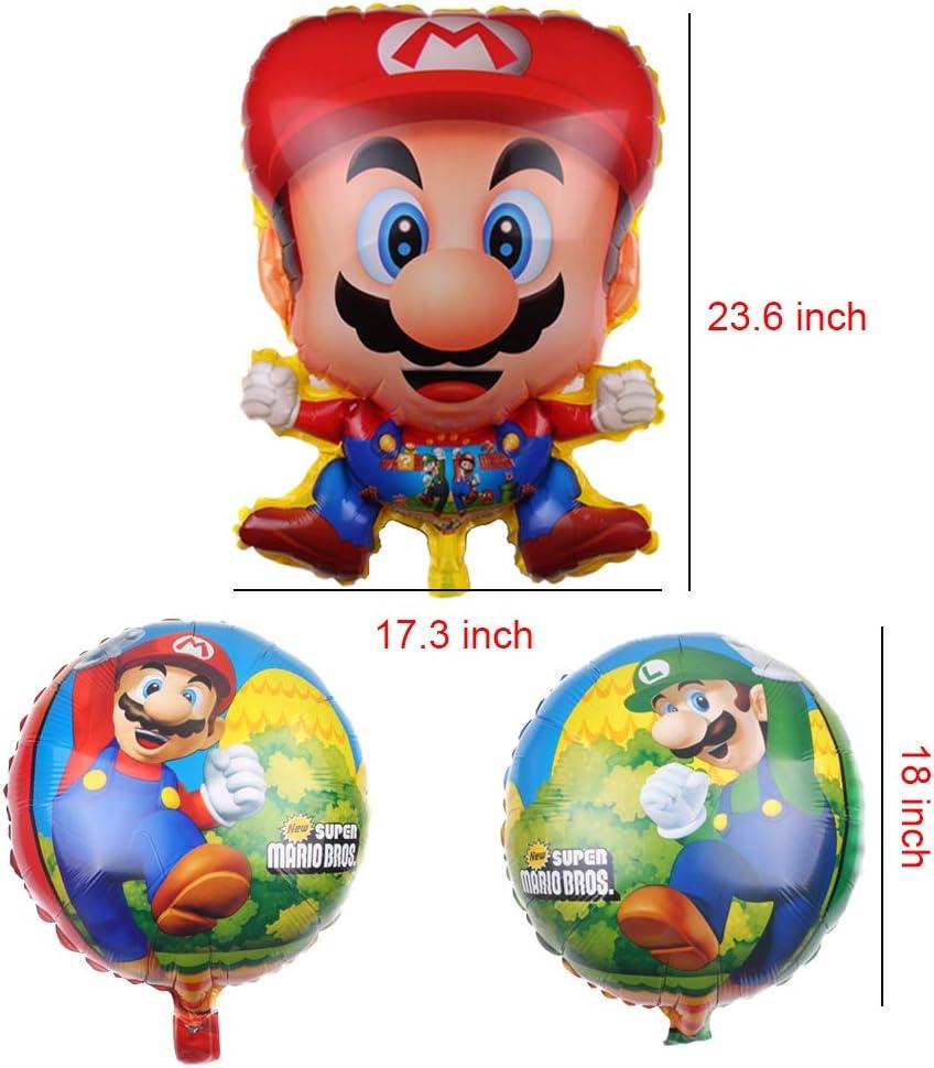 Set of 5 Super Mario Brothers Foil Mylar Balloons Birthday Party Decoration Bsstr Super Mario Bros Foil Balloon