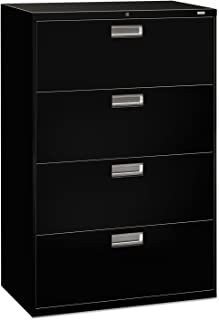 product image for HON 684LP 600 Series Four-Drawer Lateral File, 36w x 19-1/4d, Black