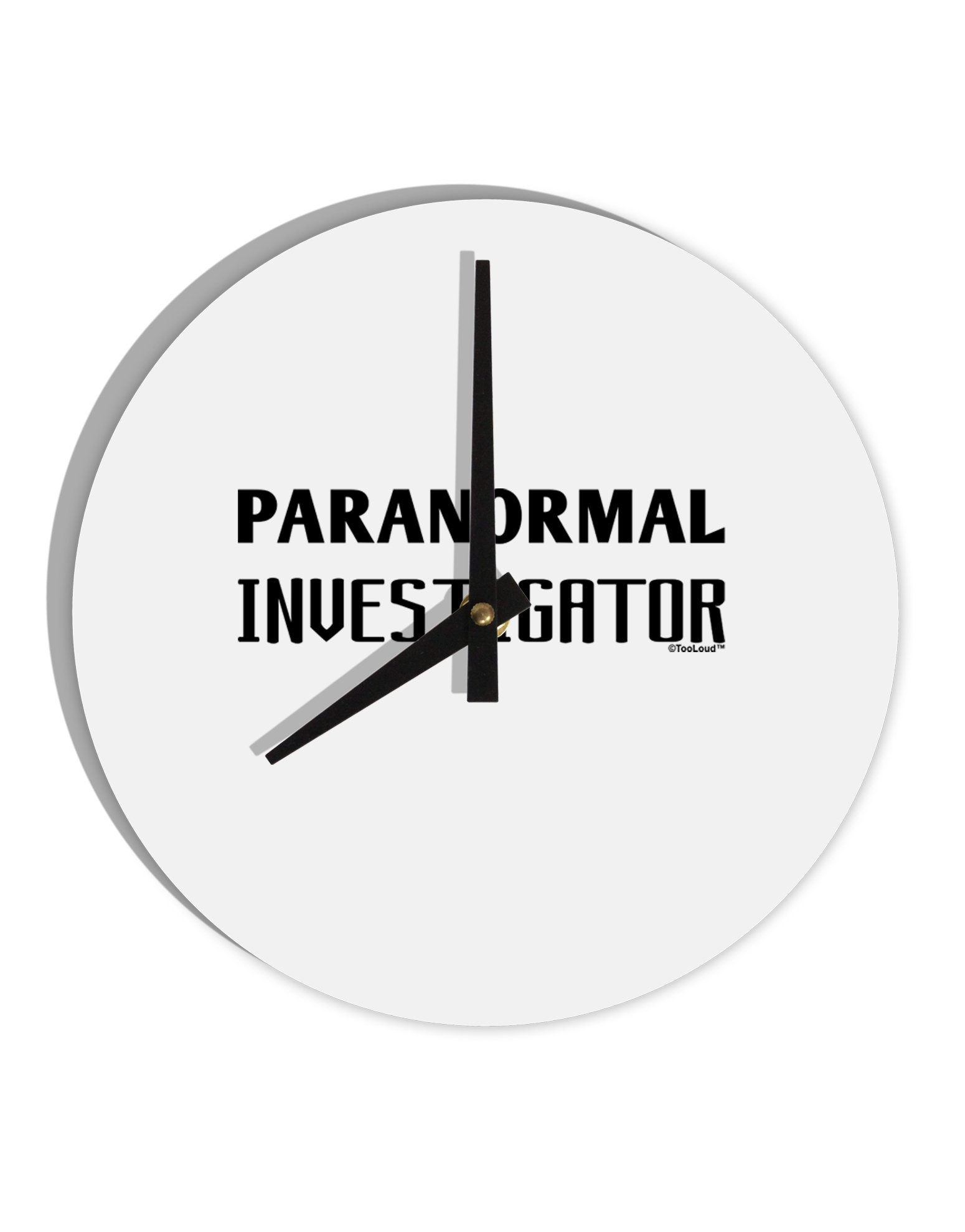 TooLoud Paranormal Investigator 8'' Round Wall Clock