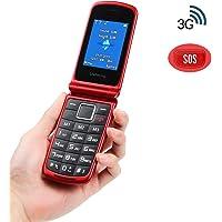 Ukuu 3G Teléfono Móvil con Tapa para Personas