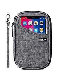 DEFWAY Passport Holder Travel Wallet - Waterproof RFID Blocking Credit Card Organizer Travel Document Bag Ticket Wallet