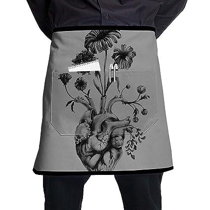 Amazon Com Nicokee Chef Aprons Tattoo Ideas Waist Tie Half Bistro