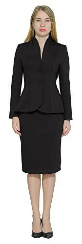 Rockabilly Dresses | Rockabilly Clothing | Viva Las Vegas Marycrafts Womens Formal Office Business Work Jacket Skirt Suit Set $46.90 AT vintagedancer.com