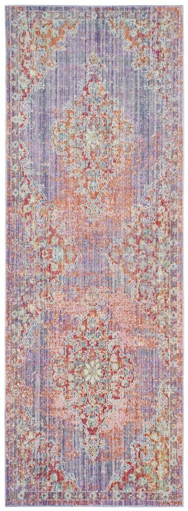 Safavieh Windsor Collection WDS317F Lavender and Fuchsia Vintage Distressed Bohemian Runner (3' x 8') WDS317F-38