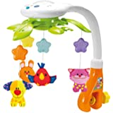 KiddoLab Baby Crib Mobile with Lights and Relaxing Music. Includes Ceiling Light Projector with Stars, Animals. Musical Crib