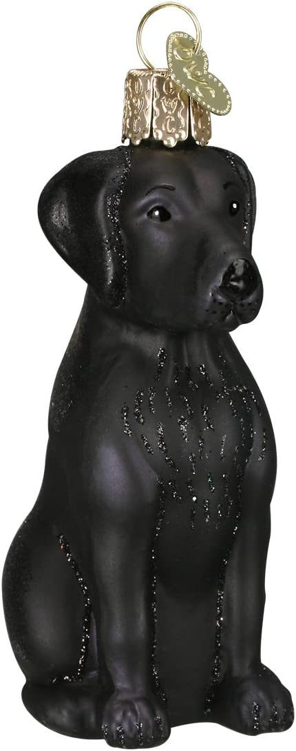 Old World Christmas Black Labrador Dog Collection Glass Blown Ornaments for Christmas Tree
