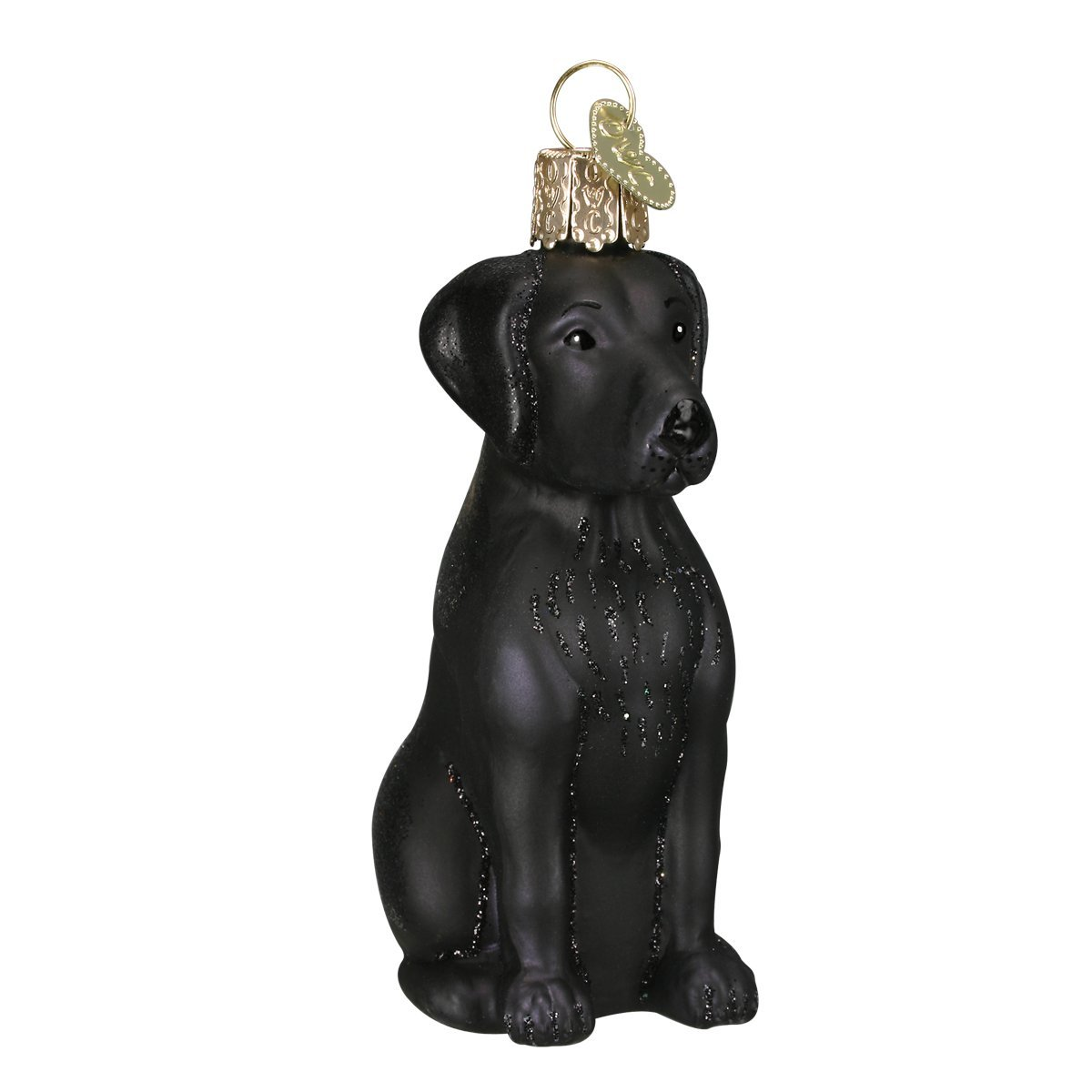 Old World Christmas Ornaments: Black Labrador Glass Blown Ornaments for Christmas Tree