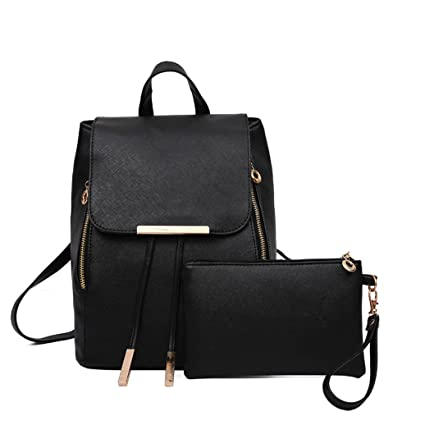 mochilas 2017 escolares mujer Sannysis 2pcs set de bolsos mochilas de mujer vestir mochilas cuero artificial