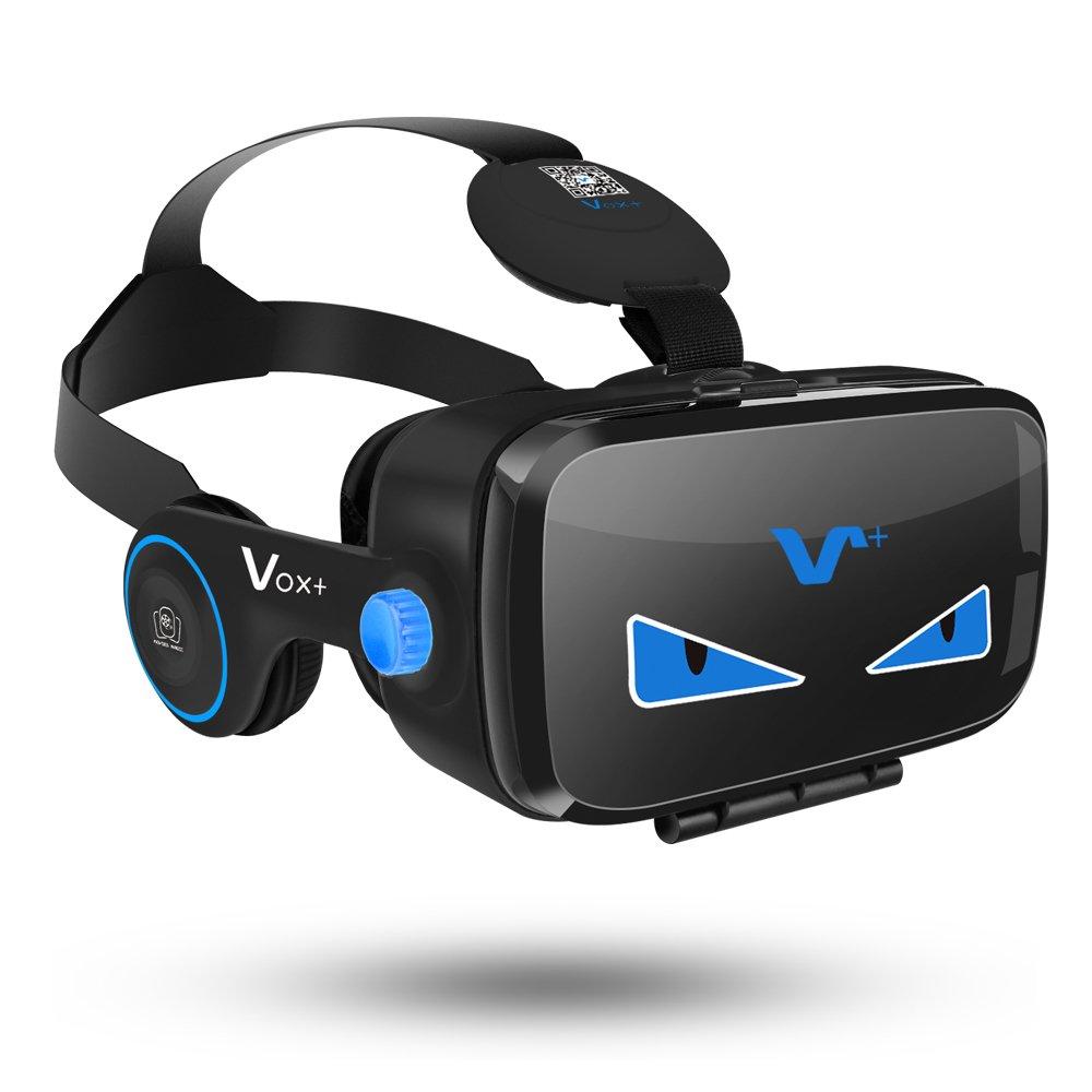 VOX FE VR Occhiali Box con Cuffie 3D per Realtà Virtuale con Auricolari per Smartphone da 4.0 a 6,2 pollici