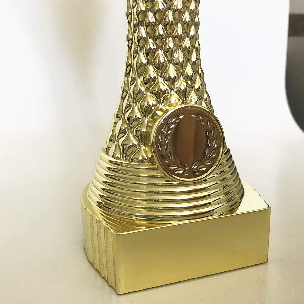 Pokal S/érie avec Texte Personnalisable Extra Grand Pokal Set Terre 225 mm, 427 GR 3 x troph/ée Luxus 1,2,3 Place avec Gravure au Choix avec Texte au Choix avec Texte
