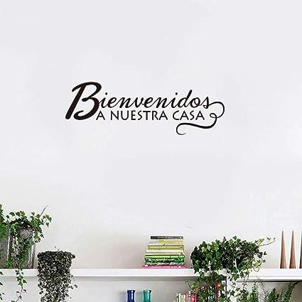 Frases En Español Bienvenidos A Nuestro Hogar Vinilos De Pared Pegatinas Calcomanías De Pared Decoración Del
