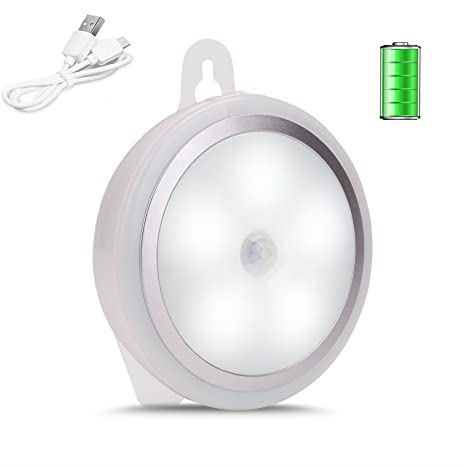 Lámpara de pared con sensor de movimiento, luz para armario de 5 LED, recargable